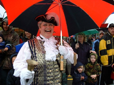 NZ's top Town Crier is 'local' Caroline Robinson, Palmerston North city Christmas Parade, Palmerston North, Manawatu, New Zealand - 3 December 2000