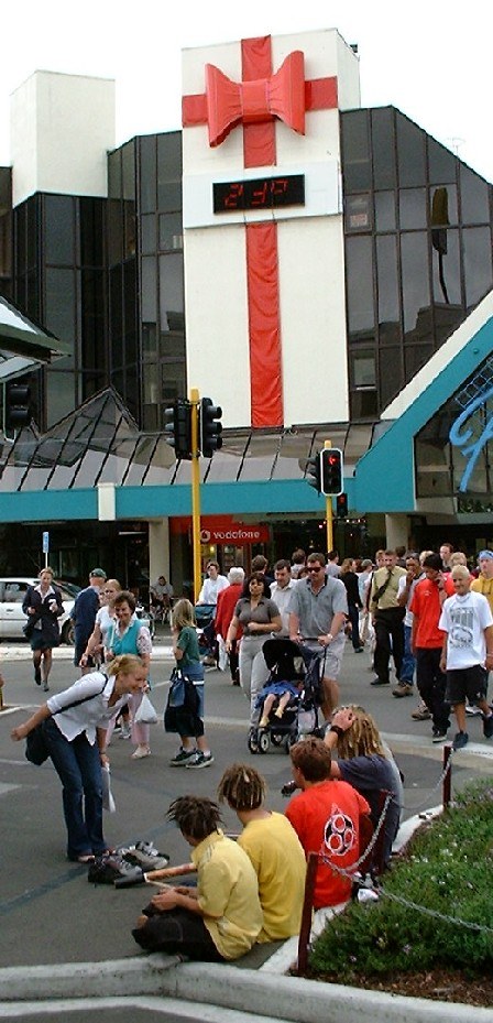 Shopping Weather, The Plaza, Palmerston North, Manawatu, New Zealand - 15 December 2000