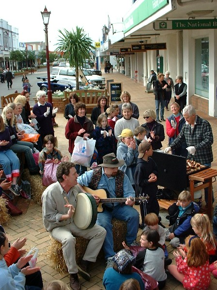 Street Entertainment in Friendly Feilding - town of Feilding, Manawatu, New Zealand - 18 August 2001