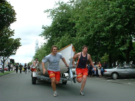Rat Race Relay 'round The Square, Palmerston North, Manawatu, New Zealand - 14 December 2001