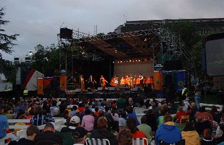New Year's Eve Concert in 'The Square,' Palmerston North, Manawatu, New Zealand - 31 December 2001