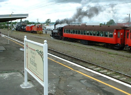 Steam Train rides during Feilding's Christmas Carnival & Parade, Feilding, Manawatu, New Zealand - 8 December 2002