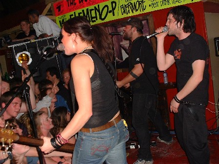 New Zealand band 'Elemeno P' with support from locals 'Evermore' play Palmy's 'The Fat Ladies Arms' bar - Palmerston North, Manawatu, New Zealand - 14 August 2003