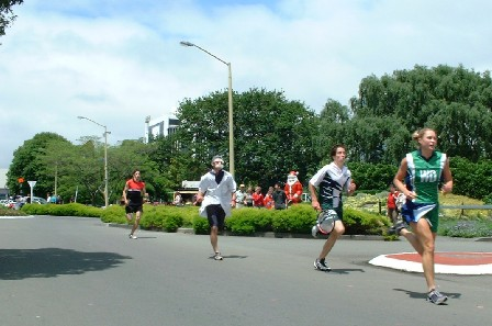 Rat Race Relay 'round The Square, Palmerston North, Manawatu, New Zealand - 12 December 2003