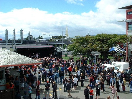 Queen Street is closed for Orientation events, including music from New Zealand band 'Elemeno P' - Palmerston North, Manawatu, New Zealand - 3 March 2004