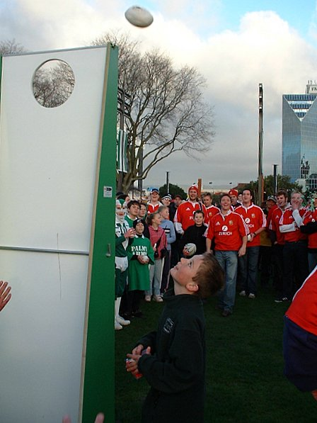 Team supporters try a future rugby rule change - Lions vs Manawatu - The Square, Palmerston North