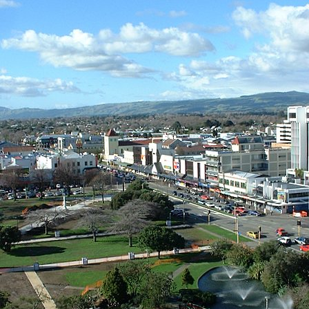 North-eastern view over Palmerston North from the CBD - Palmerston North, Manawatu, New Zealand - 9 July 2005