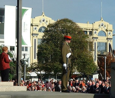 Her Worship the Mayor of Palmerston North, Mrs Heather Tanguay, gives The Address - Cenotaph, The Square, Palmerston North - 25 April 2007